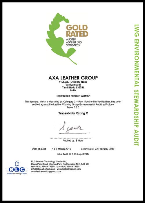 GARMENTS - AXA - LEATHER GROUP